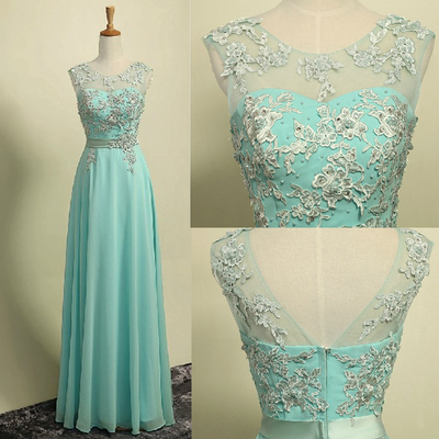 New Style Prom Dresses Chiffon Lace Prom Dress For Teens Backless Evening Dress Formal Dress