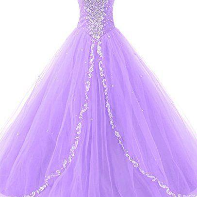 Custom Made Sweetheart Neckline Ruffled Tulle Dress with Rhinestones, Evening Dress, Prom Dresses, Wedding Dress
